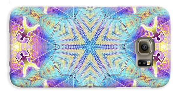 Cosmic Spiral Kaleidoscope 17 Galaxy S6 Case by Derek Gedney
