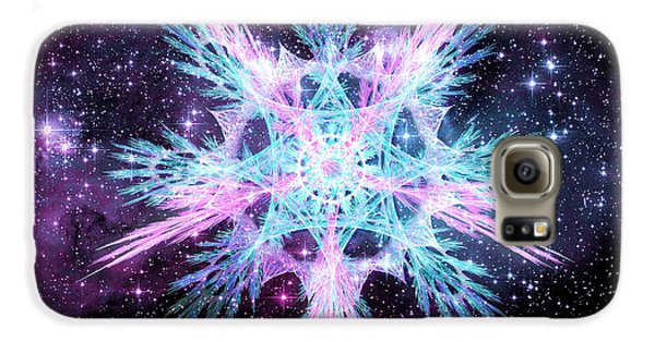 Cosmic Starflower Galaxy S6 Case