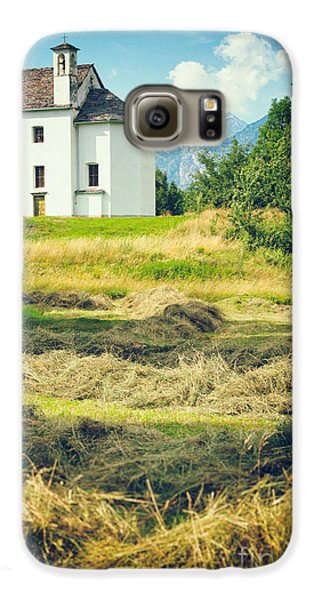 Galaxy S6 Case featuring the photograph Country Church With Hay by Silvia Ganora