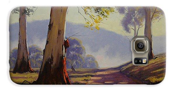 Kangaroo Galaxy S6 Case - Country Road Australia by Graham Gercken