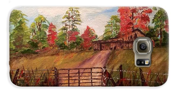 Galaxy S6 Case featuring the painting Country Road by Patti Ferron
