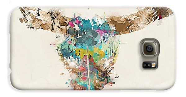 Bull Galaxy S6 Case - Cow Skull by Bri Buckley