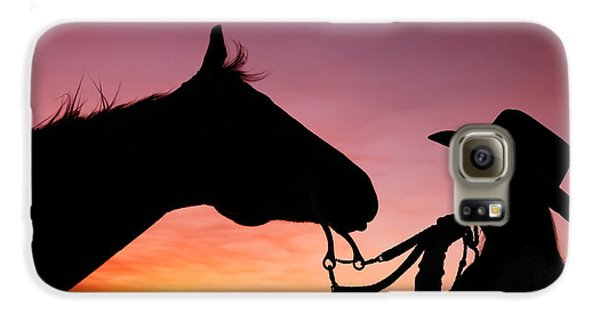 Horse Galaxy S6 Case - Cowgirl Sunset by Todd Klassy