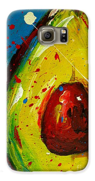 Crazy Avocado 4 - Modern Art Galaxy S6 Case