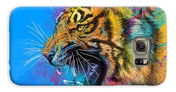 Animals Galaxy S6 Case - Crazy Tiger by Olga Shvartsur