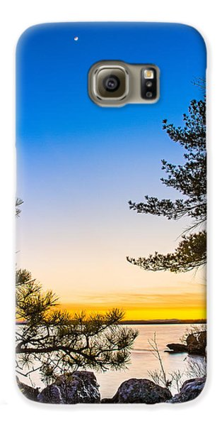Crescent Moon Sunset Galaxy S6 Case