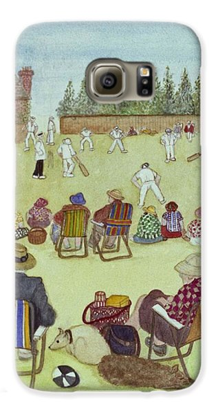 Cricket On The Green, 1987 Watercolour On Paper Galaxy S6 Case by Gillian Lawson