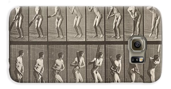 Cricketer Galaxy S6 Case by Eadweard Muybridge