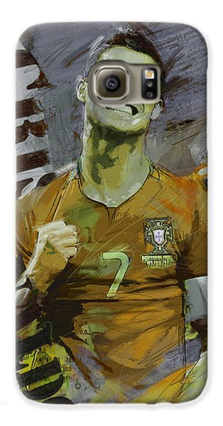 Cristiano Ronaldo Galaxy S6 Case by Corporate Art Task Force