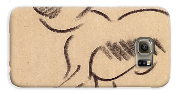 Crouching Monkey Galaxy S6 Case by Henri Gaudier-Brzeska