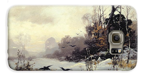 Crows In A Winter Landscape Galaxy S6 Case