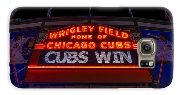Wrigley Field Galaxy S6 Case - Cubs Win by Steve Gadomski