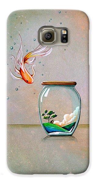 Goldfish Galaxy S6 Case - Curiosity by Cindy Thornton