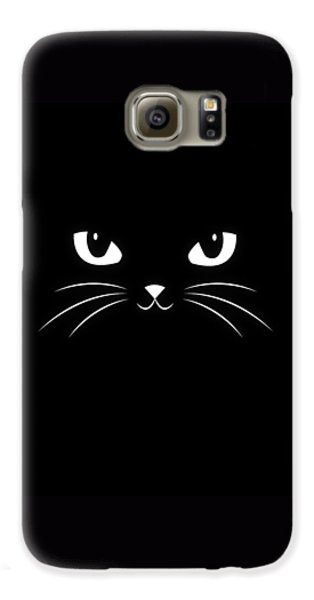 Cute Black Cat Galaxy S6 Case