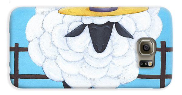 Sheep Galaxy S6 Case - Cute Sheep Nursery Art by Christy Beckwith