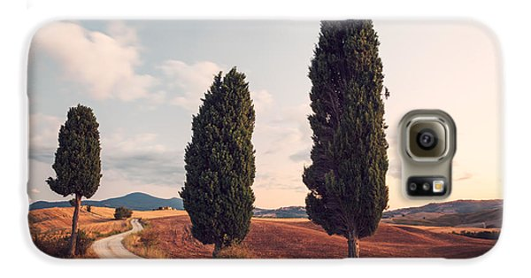 Cypress Lined Road In Tuscany Galaxy S6 Case by Matteo Colombo
