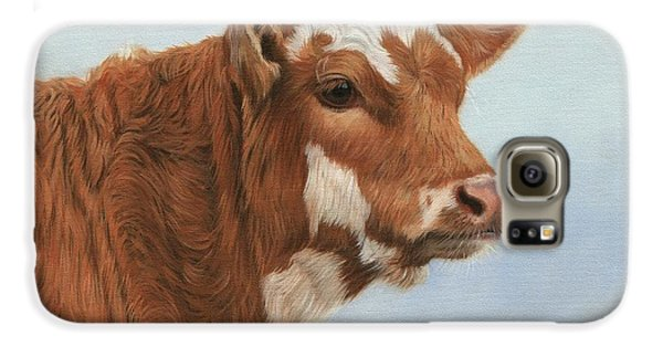 Cow Galaxy S6 Case - Daisy by David Stribbling