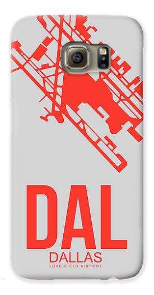 Dallas Galaxy S6 Case - Dal Dallas Airport Poster 1 by Naxart Studio