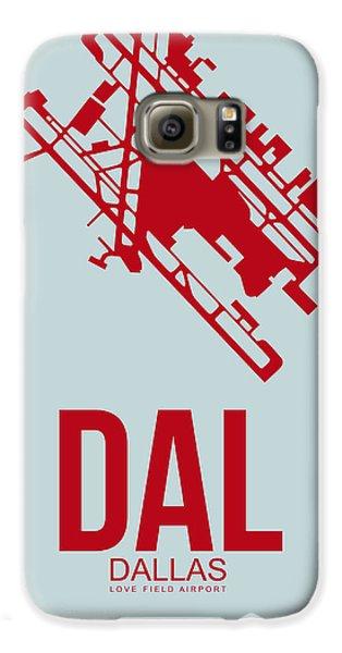 Dallas Galaxy S6 Case - Dal Dallas Airport Poster 4 by Naxart Studio