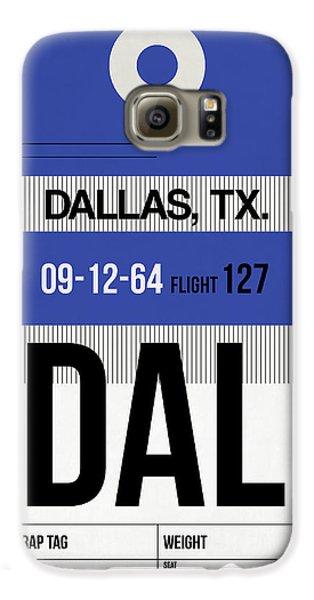 Dallas Galaxy S6 Case - Dallas Airport Poster 1 by Naxart Studio