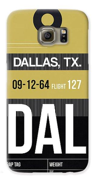 Dallas Galaxy S6 Case - Dallas Airport Poster 2 by Naxart Studio