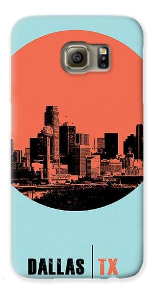 Dallas Galaxy S6 Case - Dallas Circle Poster 1 by Naxart Studio