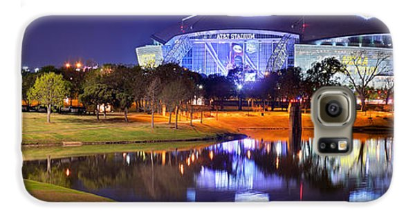 Dallas Cowboys Stadium At Night Att Arlington Texas Panoramic Photo Galaxy S6 Case by Jon Holiday