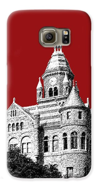 Dallas Skyline Old Red Courthouse - Dark Red Galaxy S6 Case by DB Artist
