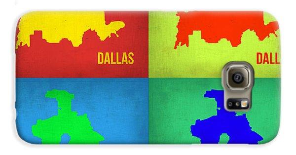 Dallas Galaxy S6 Case - Dallas Pop Art Map 1 by Naxart Studio