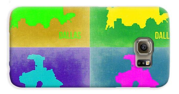 Dallas Galaxy S6 Case - Dallas Pop Art Map 2 by Naxart Studio