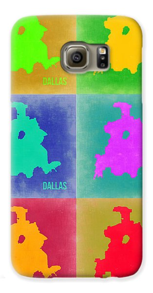 Dallas Pop Art Map 3 Galaxy S6 Case by Naxart Studio