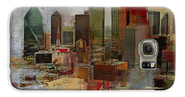 Dallas Skyline 003 Galaxy S6 Case by Corporate Art Task Force