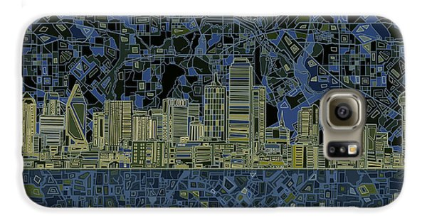 Dallas Skyline Abstract 2 Galaxy S6 Case by Bekim Art