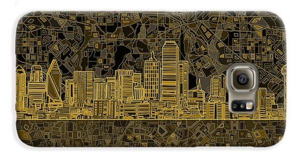 Dallas Skyline Abstract 3 Galaxy S6 Case by Bekim Art