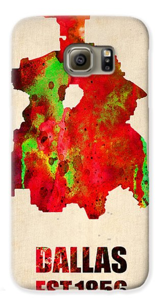 Dallas Galaxy S6 Case - Dallas Watercolor Map by Naxart Studio