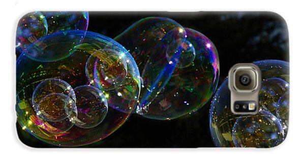 Galaxy S6 Case featuring the photograph Dark Bubbles With Babies by Nareeta Martin