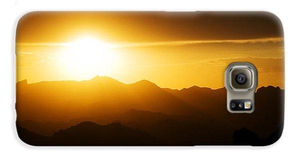 Dark Sunset Over The Matzatzals Galaxy S6 Case