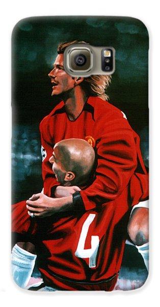David Beckham And Juan Sebastian Veron Galaxy S6 Case by Paul Meijering
