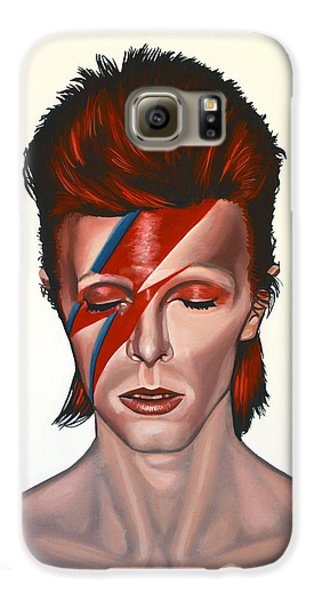 Space Galaxy S6 Case - David Bowie Aladdin Sane by Paul Meijering