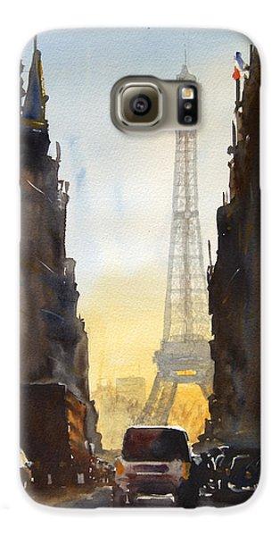 Eiffel Tower Galaxy S6 Case - Dawn In Paris by James Nyika