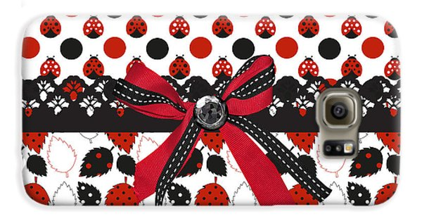 Dazzling Ladybugs  Galaxy S6 Case by Debra  Miller