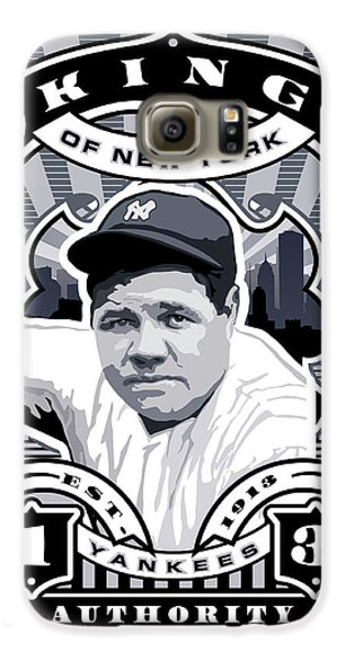 Dcla Babe Ruth Kings Of New York Stamp Artwork Galaxy S6 Case by David Cook Los Angeles