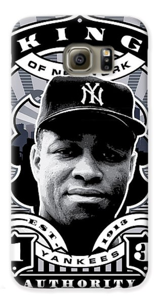 Dcla Elston Howard Kings Of New York Stamp Artwork Galaxy S6 Case by David Cook Los Angeles