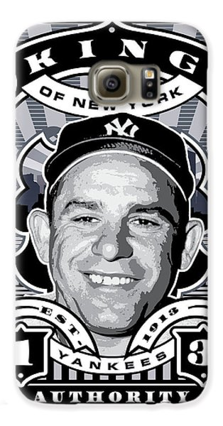 Dcla Yogi Berra Kings Of New York Stamp Artwork Galaxy S6 Case by David Cook Los Angeles