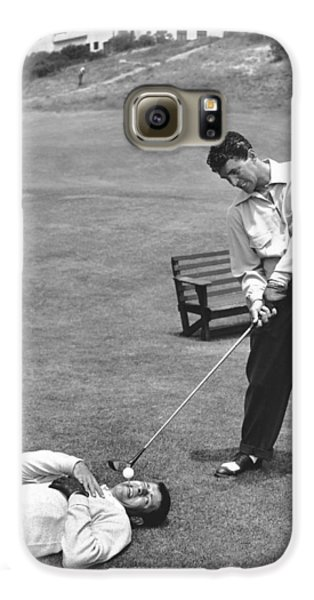 Golf Galaxy S6 Case - Dean Martin & Jerry Lewis Golf by Underwood Archives