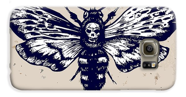 Magician Galaxy S6 Case - Deaths-head Hawkmoth. Hand Drawn Vector by Inna Sinano
