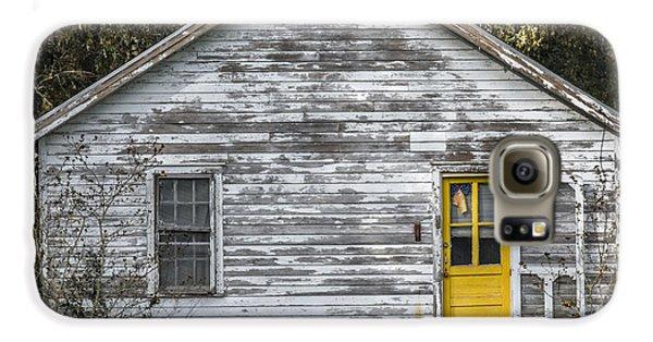 Defiant Yellow Door - Square Galaxy S6 Case