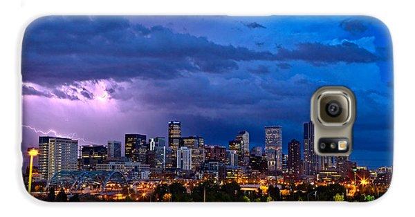 City Scenes Galaxy S6 Case - Denver Skyline by John K Sampson