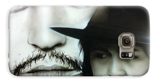 Johnny Depp - ' Depp ' Galaxy S6 Case by Christian Chapman Art