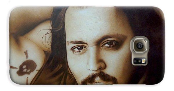 Johnny Depp - ' Depp II ' Galaxy S6 Case by Christian Chapman Art